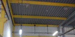 Фрагмент металлического каркаса производственного здания