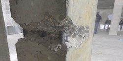Вскрытие колонны, определение армирования и толщины защитного слоя